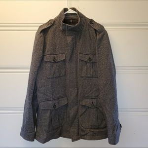 Military Field Style Gray Winter Coat Expess